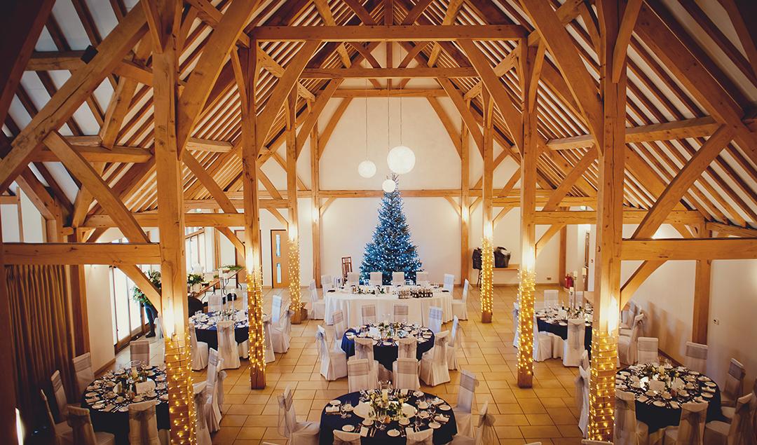 Christmas Wedding.Barn Wedding Venue A Sparkling Christmas Wedding